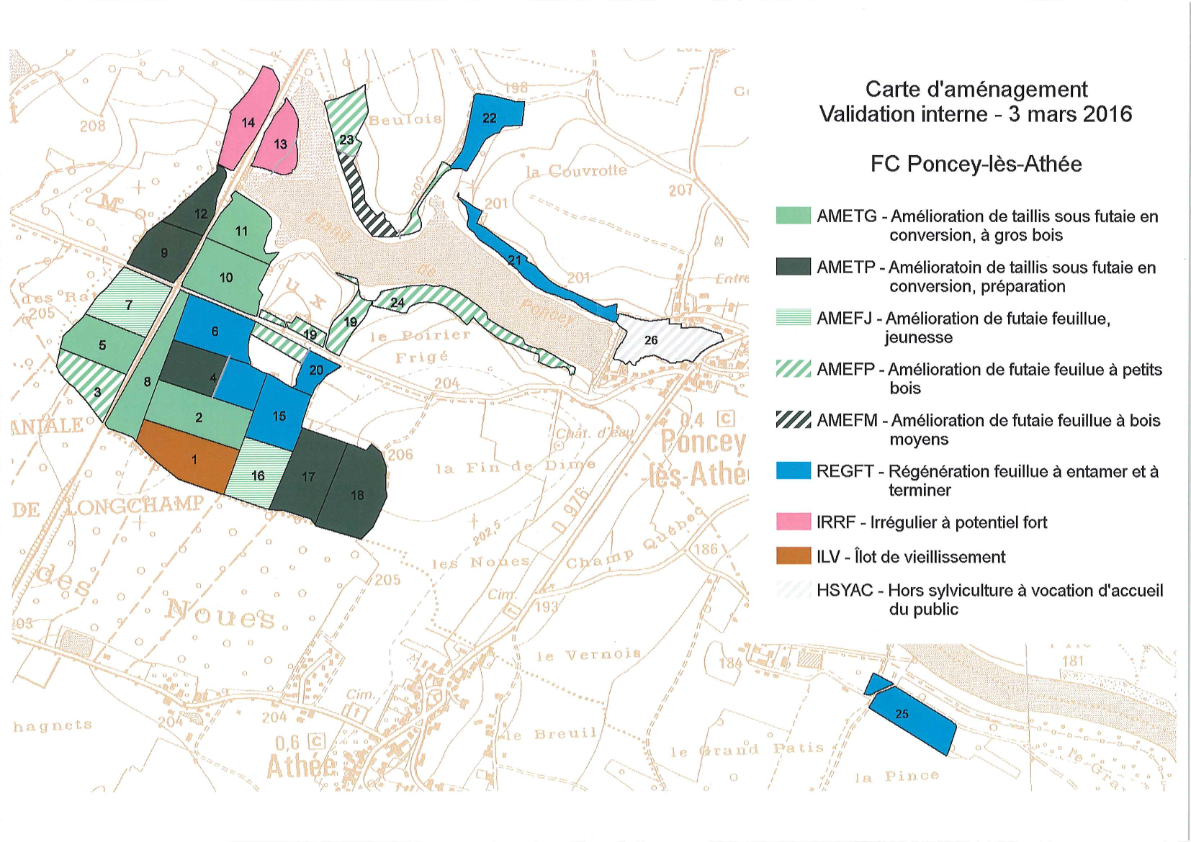 Forêt Communale PONCEY-Carte d'aménagement_001